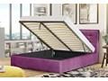 ŁÓŻKO TAPICEROWANE 160X200 Z POJEMNIKIEM - ALDO - KOLORY Kategoria Łóżka do sypialni Kolor Czarny