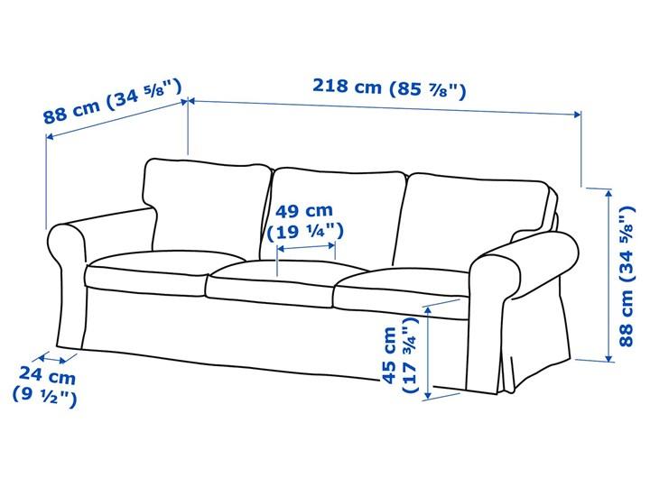 EKTORP Sofa 3-osobowa Głębokość 88 cm Szerokość 218 cm Głębokość 49 cm Typ Gładkie Pomieszczenie Salon