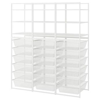 IKEA JONAXEL Kombinacja szafek otwartych, biały, 148x51x173 cm
