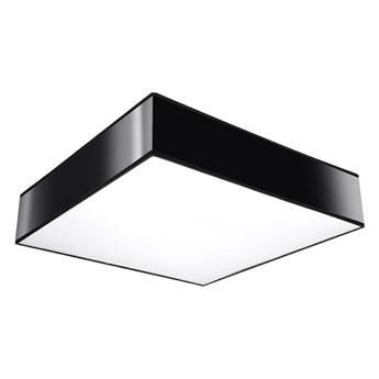 SOLLUX Piękny Kwadratowy Plafon Sufitowy Kinkiet Ścienny HORUS 25 Kolor Czarna Nowoczesna Lampa Minimalistyczna Salon Sypialnia LED