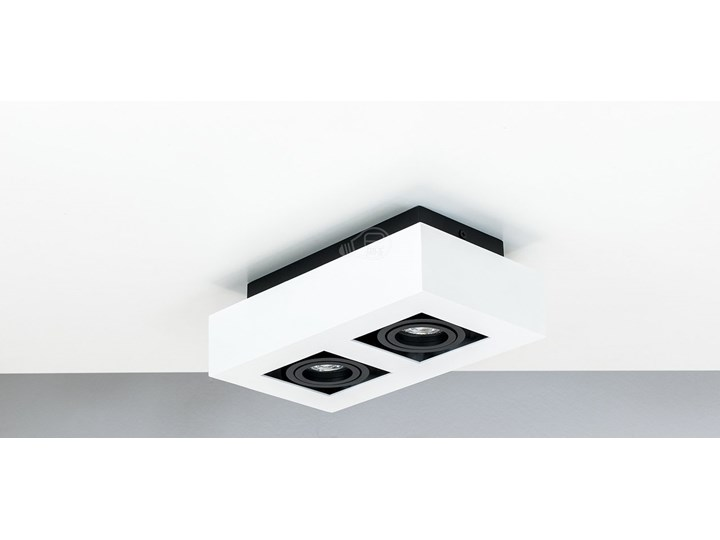 Lampa sufitowa natynkowa OSMIN 2 White IP20 kwadratowa podwójna biało - czarna mat EDO777145 EDO Oprawa stropowa Kwadratowe Kolor Czarny Prostokątne Kolor Biały
