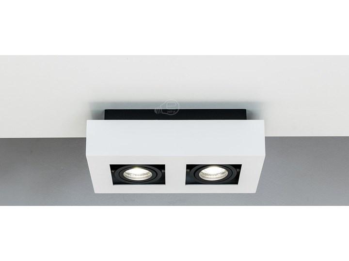 Lampa sufitowa natynkowa OSMIN 2 White IP20 kwadratowa podwójna biało - czarna mat EDO777145 EDO Oprawa stropowa Kwadratowe Prostokątne Kolor Czarny