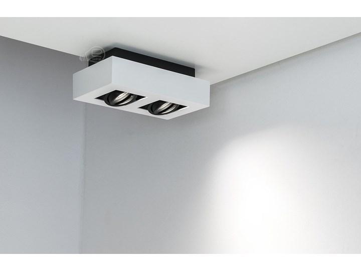 Lampa sufitowa natynkowa OSMIN 2 White IP20 kwadratowa podwójna biało - czarna mat EDO777145 EDO Oprawa stropowa Prostokątne Kwadratowe Kolor Biały