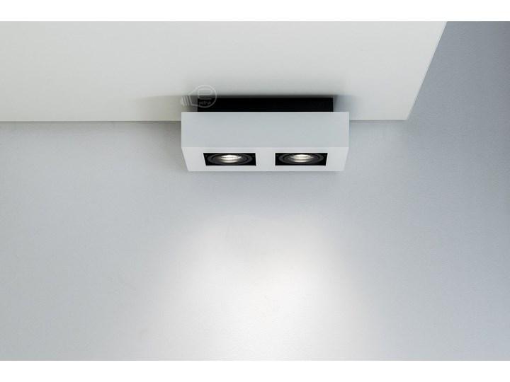 Lampa sufitowa natynkowa OSMIN 2 White IP20 kwadratowa podwójna biało - czarna mat EDO777145 EDO Kwadratowe Prostokątne Oprawa stropowa Kolor Czarny