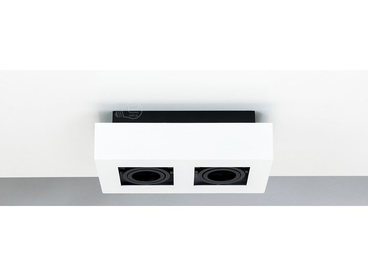 Lampa sufitowa natynkowa OSMIN 2 White IP20 kwadratowa podwójna biało - czarna mat EDO777145 EDO Oprawa stropowa Prostokątne Kwadratowe Kolor Czarny