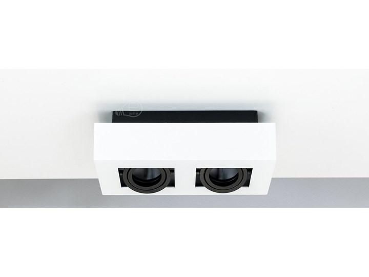 Lampa sufitowa natynkowa OSMIN 2 White IP20 kwadratowa podwójna biało - czarna mat EDO777145 EDO Prostokątne Oprawa stropowa Kwadratowe Kolor Czarny