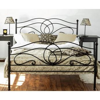 """Łóżko kute metalowe  """"Iris"""" dwa szczyty"""
