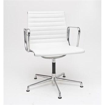 Fotel konf. CH1081T,biała skóra ,chr.  -15% RABATU! DARMOWA WYSYŁKA
