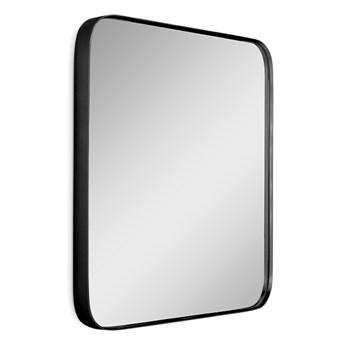 Zaokrąglone lustro retro w czarnej oprawie  61 x 81 cm 16F-571