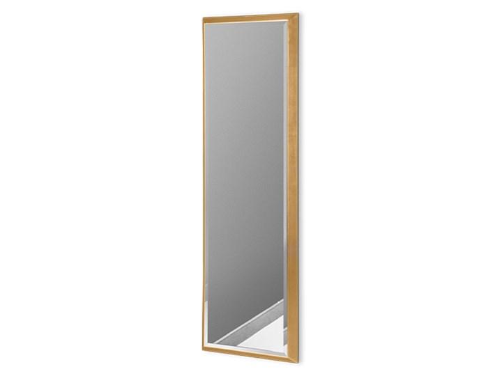 Nowoczesne lustro w złotej ramie 23 x 83 cm 12F-390 Ścienne Pomieszczenie Przedpokój Prostokątne Lustro z ramą Styl Nowoczesny