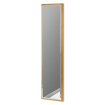Nowoczesne lustro w złotej ramie 28 x 118 cm 12F-390