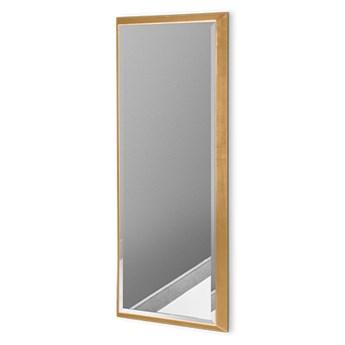 Nowoczesne lustro w złotej ramie 18 x 53 cm 12F-390