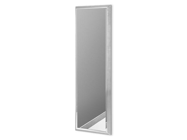 Nowoczesne lustro w srebrnej ramie 23 x 83 cm 12F-390