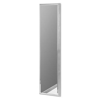 Nowoczesne lustro w srebrnej ramie 28 x 118 cm 12F-390