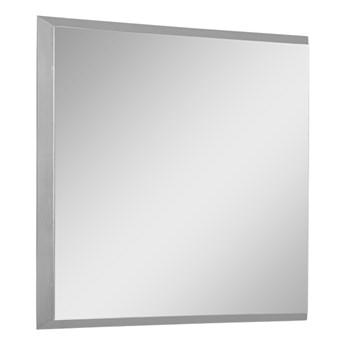 Nowoczesne lustro w srebrnej ramie 53 x 53 cm 12F-390
