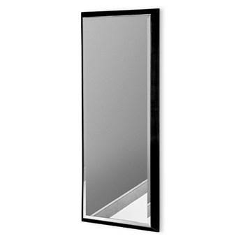 Nowoczesne lustro w czarnej ramie 18 x 53 cm 12F-390