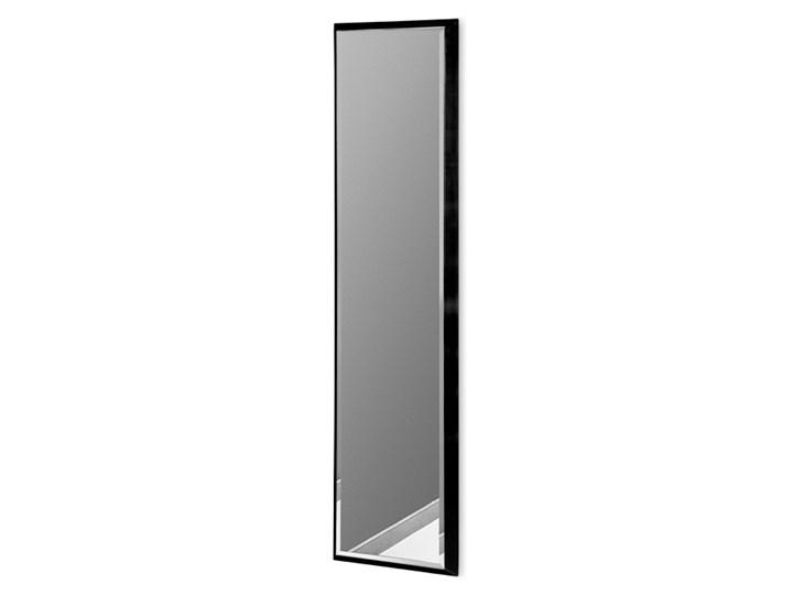 Nowoczesne lustro w czarnej ramie 28 x 118 cm 12F-390