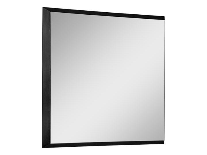 Nowoczesne lustro w czarnej ramie 53 x 53 cm 12F-390 Ścienne Kwadratowe Kolor Czarny Lustro z ramą Pomieszczenie Łazienka