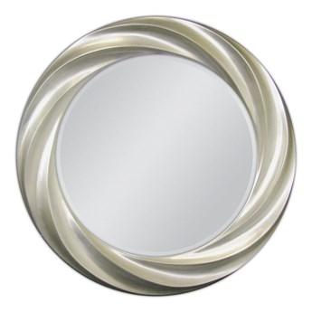 Lustro w srebrnej oprawie Ø 80 cm PU091 outlet