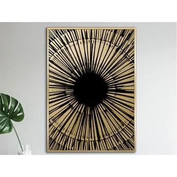 Nowoczesny czarno złoty obraz 82 x 122 cm TOIR22763