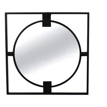 Okrągłe lustro w stalowej czarnej ramie loft Ø 50 x 2 cm TOYJ19-385