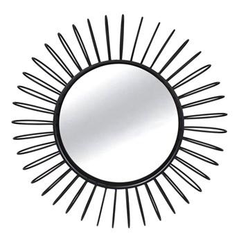 Okrągłe czarne lustro słońce Ø101 x 11 cm TOYJ19-342B