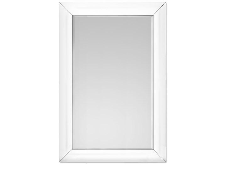 Lustro w giętej białej ramie 80 x 120 cm 15JZ191 outlet