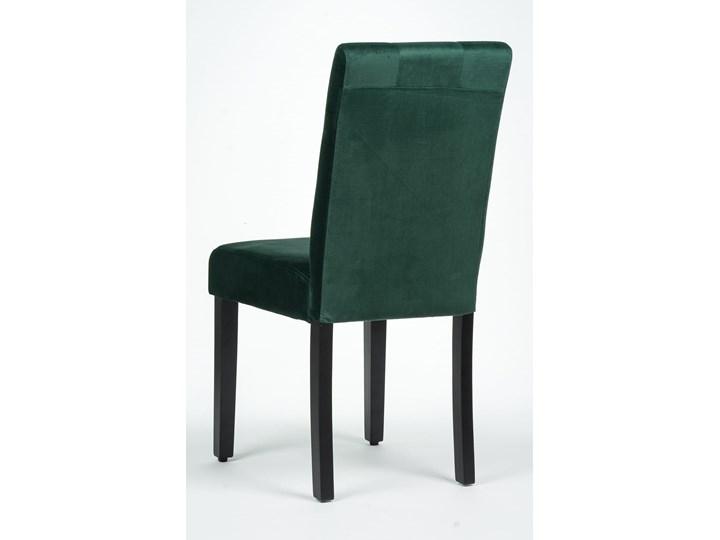 KRZESŁO TAPICEROWANE DREWNIANE MY8683 WELUR ZIELONY Tkanina Drewno Kategoria Krzesła kuchenne