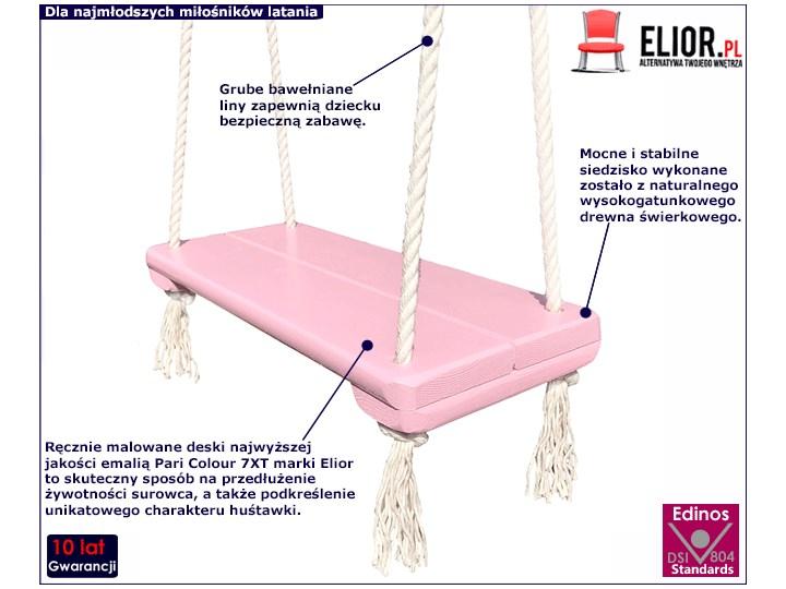 Różowa huśtawka dla dziewczynki - Rino Trapez Kategoria Huśtawki dla dzieci
