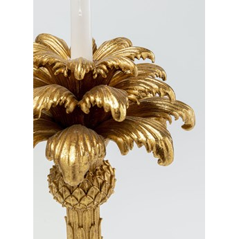 Świecznik Palm Tree 22x48 cm złoty