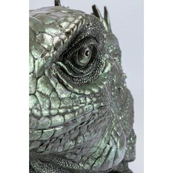 Figurka dekoracyjna Lizard Head 51x54 cm zielona