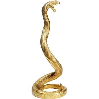 Figurka dekoracyjna Snake 17x39 cm złota