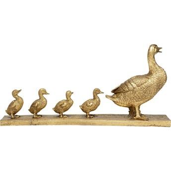 Figurka dekoracyjna Duck Family 58x28 cm złota