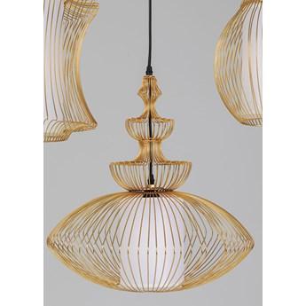 Lampa wisząca Swing Iron Tre 77x119 cm złota