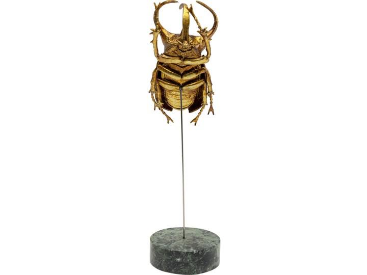 Figurka dekoracyjna Atlas Beetle 7x24 cm złota Kolor Biały Kategoria Figury i rzeźby