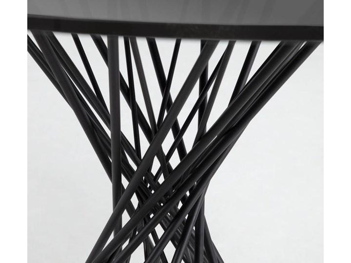 Stół Niut ∅120 cm czarny blat szklany Szkło Metal Kolor Szary
