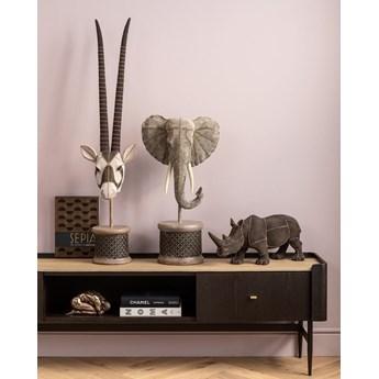 Figurka dekoracyjna Elephant Head Pearls 40x76 cm szara