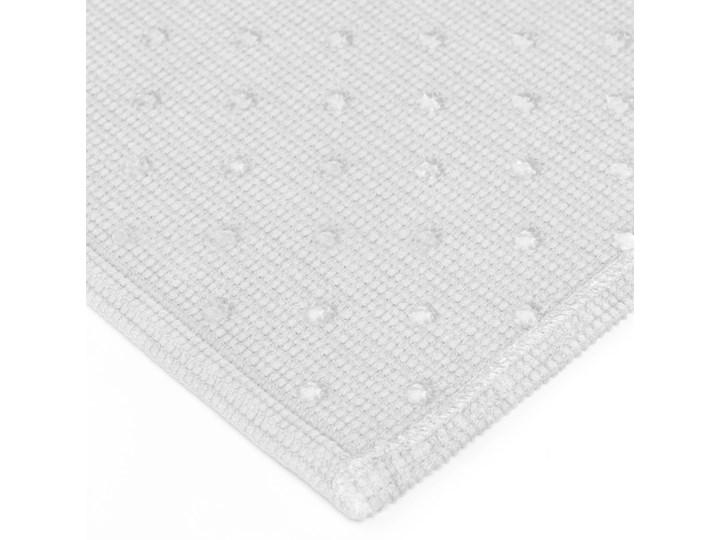 Dywanik łazienkowy Miekki 60x40 cm biały Prostokątny Kategoria Dywaniki łazienkowe 40x60 cm Bawełna Kolor Szary