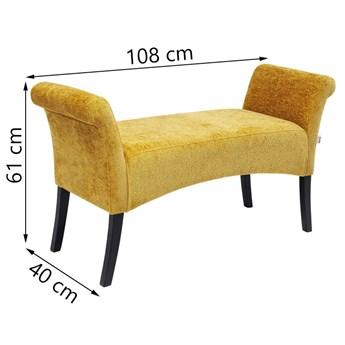Ławka Motley Hugs 107x62 cm żółta