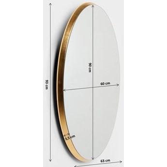 Lustro Jetset Oval 64x94 cm złote