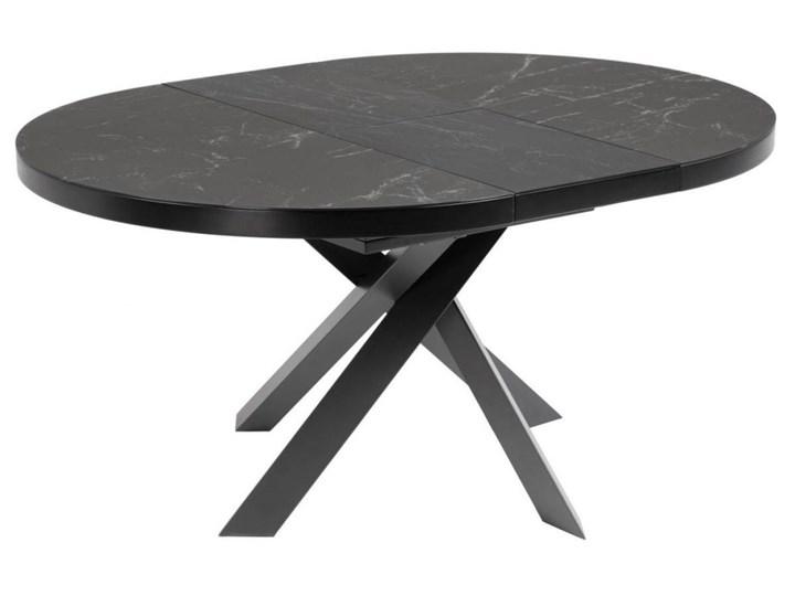 Stół rozkładany Vashti ∅120-160x76 cm szary Płyta MDF Szkło Ceramika Marmur Długość 160 cm  Szerokość 120 cm Długość 120 cm  Stal Kategoria Stoły kuchenne