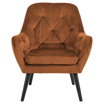 Fotel Harvel 76x85 cm miedziany