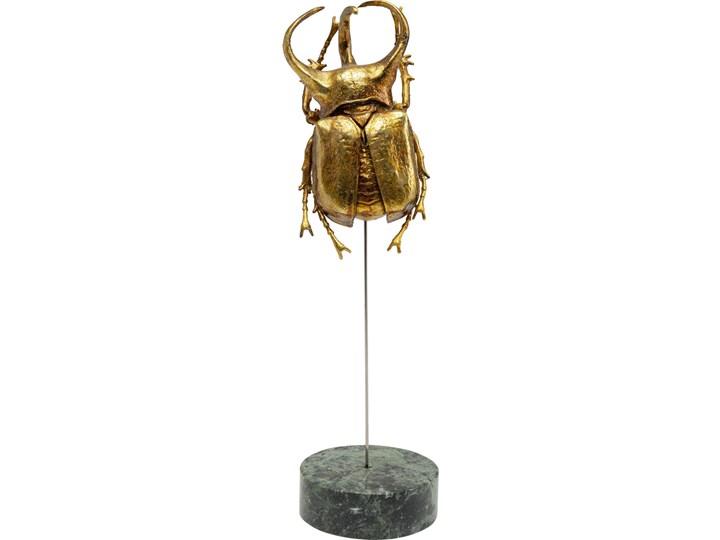 Figurka dekoracyjna Atlas Beetle 7x24 cm złota Kolor Biały