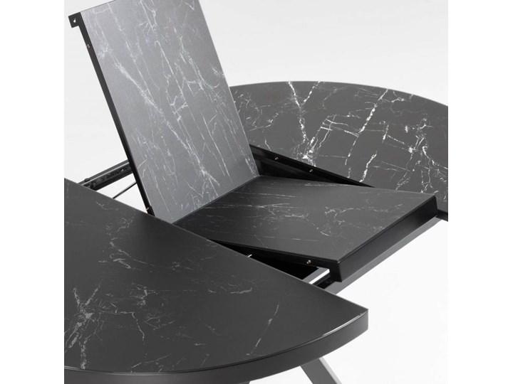 Stół rozkładany Vashti ∅120-160x76 cm szary Szerokość 120 cm Szkło Marmur Długość 120 cm  Stal Płyta MDF Długość 160 cm  Ceramika Rozkładanie Rozkładane