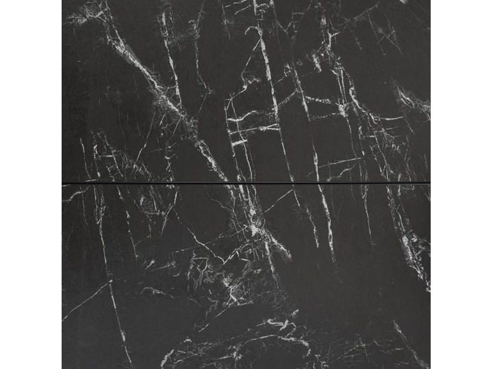 Stół rozkładany Vashti ∅120-160x76 cm szary Szerokość 120 cm Ceramika Szkło Długość 160 cm  Stal Długość 120 cm  Marmur Płyta MDF Rozkładanie Rozkładane