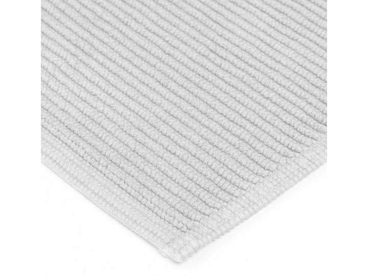 Dywanik łazienkowy Miekki 60x40 cm biały Bawełna Kategoria Dywaniki łazienkowe 40x60 cm Prostokątny Kolor Szary