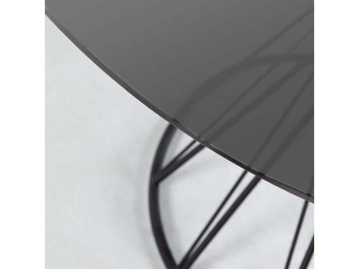 Stół Niut ∅120 cm czarny blat szklany Metal Szkło Kategoria Stoły kuchenne