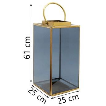 Latarenka Noir 25x61 cm przydymiono-złota