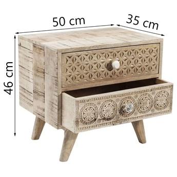 Szafka nocna Puro 50x35 cm drewniana
