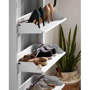 Regal na buty Ode 50 x 136 cm 4 drzwi bialy